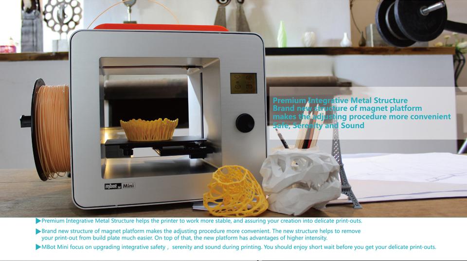 Buy Mini Desktop 3d Printer offered by Mbot3d com | MBot 3D Printer